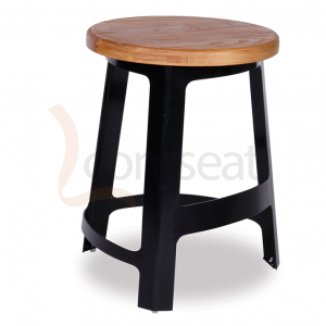 Cappa__Sean_Dix_Factory_Bar_Stool_Replica_l__45cm_Black_with_Solid_Ash_Seat_0