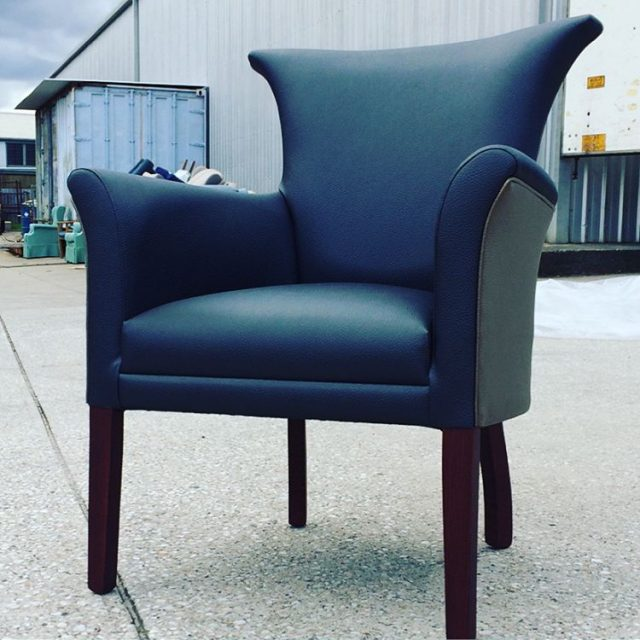 The Quartz chair upholstered in some crazy looking vinyl! Prettyhellip