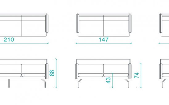 Cube lounge drawings